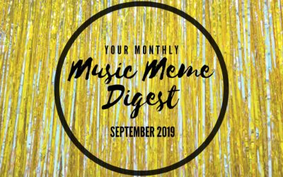 Your Monthly Music Meme Digest: September